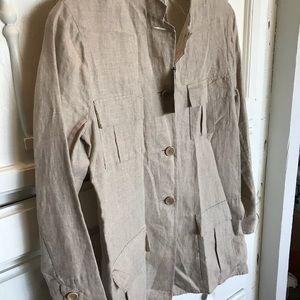 NWT Maxstudio Small Linen Coat